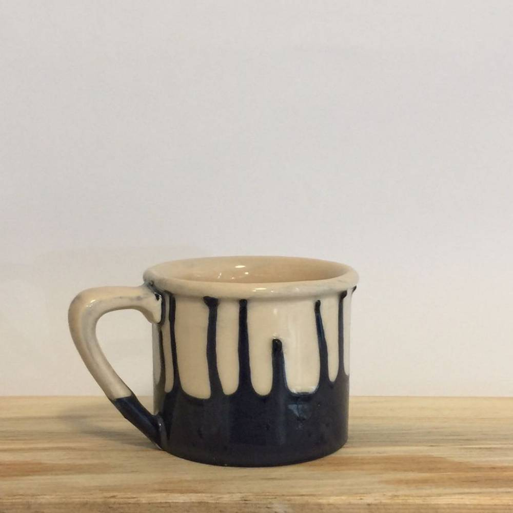 Ceramic Mug Black Waves