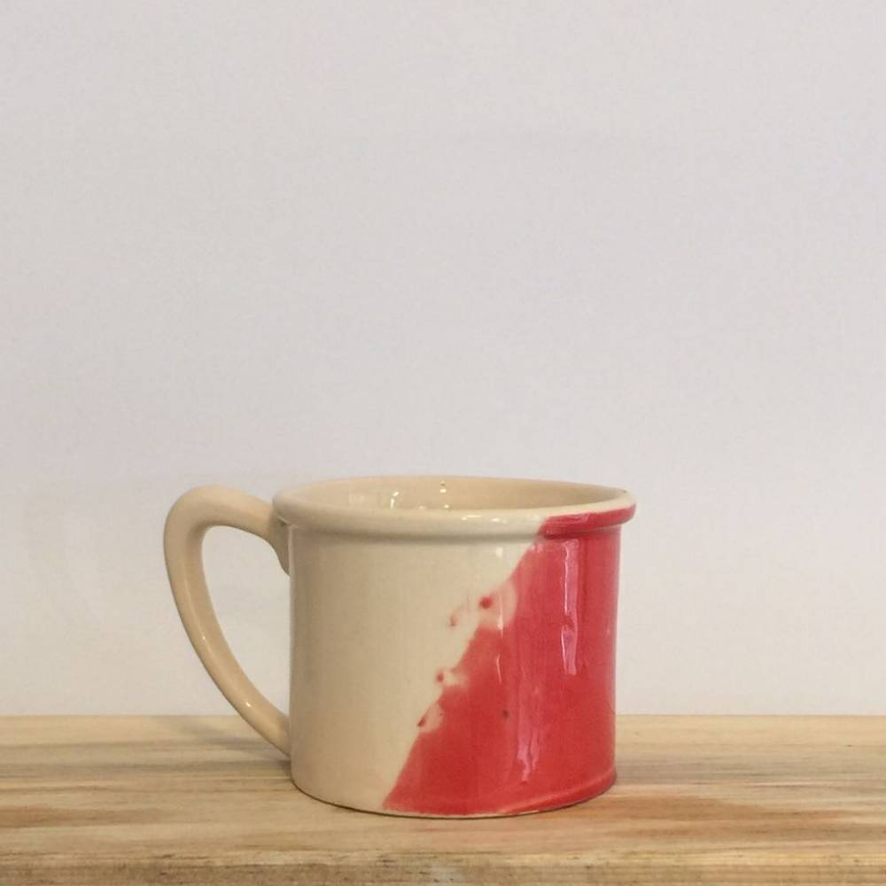 Ceramic Mug Symetric Red