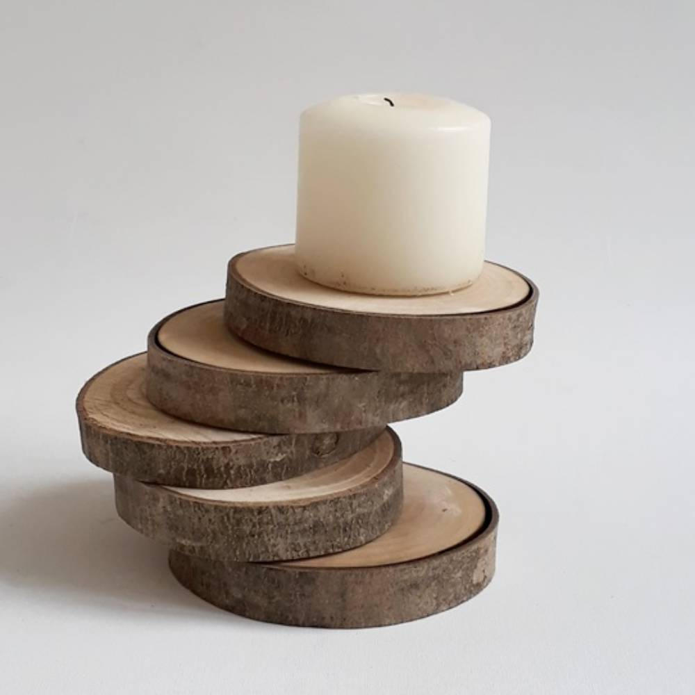 Wooden Candle Holder Stairs to Ligth