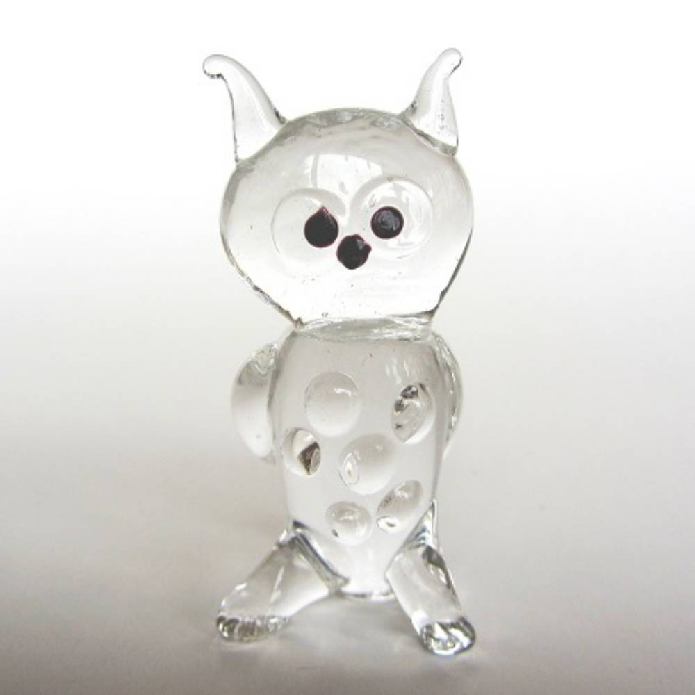 Glass Trinket Owl