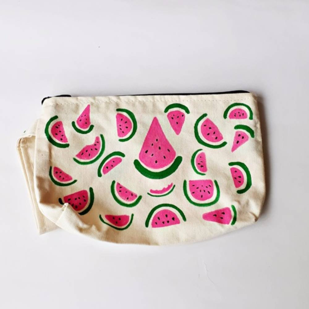 Handpainted Bag Melon