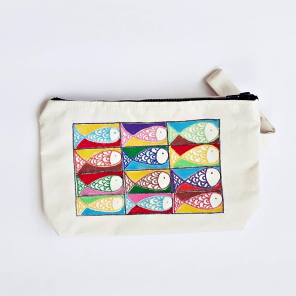 Handpainted Bag Fishes