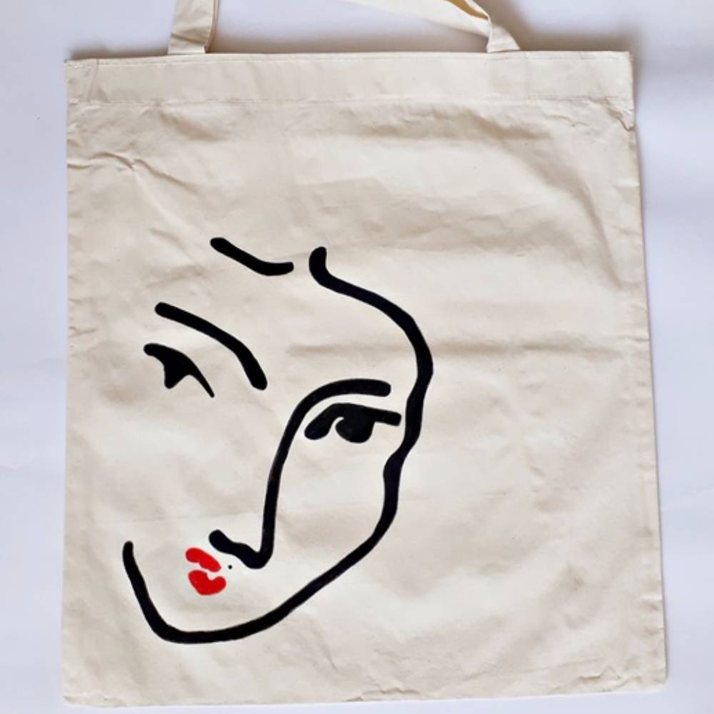 Handpainted Shoulder Bag Woman
