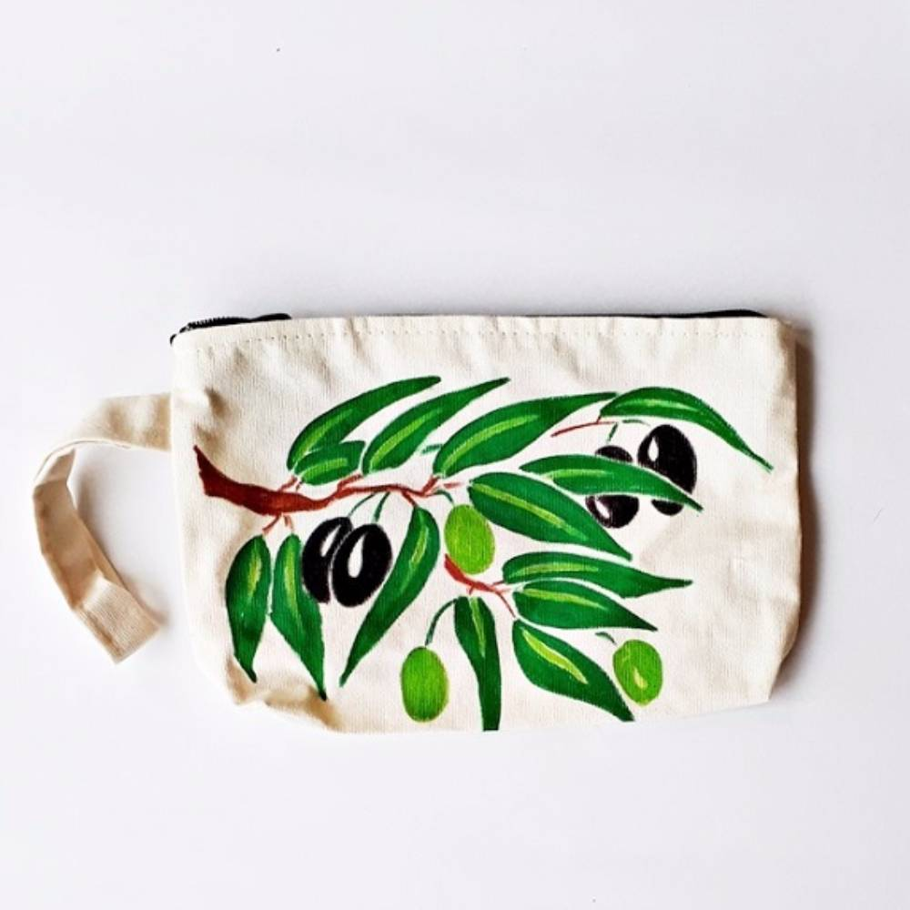 Handpainted Bag Olives