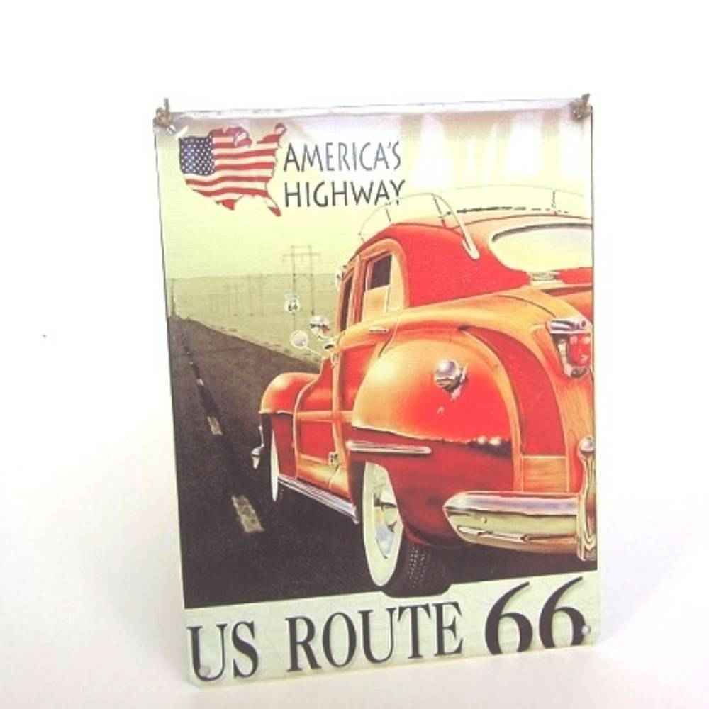 Metal Printed Poster - Route66
